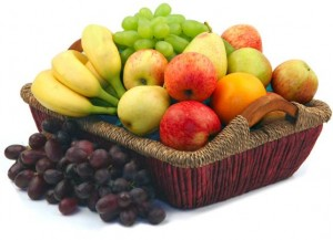 Get your natural sugars from fruit and vegetables